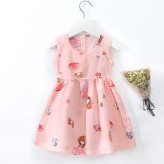 Váy, đầm bé gái ZAKUDO – Váy trẻ em mùa hè chất cotton đũi mặc ở nhà thoáng mát nhiều hoạt tiết dễ thương QATE18