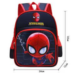 Balo cho bé trai đi mẫu giáo dễ thương với nhiều hình người nhện và siêu nhân anh hùng – HS038