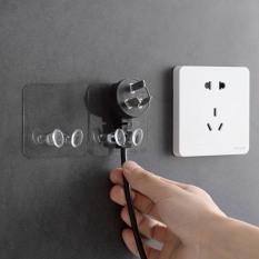 [HCM]Móc dán tường giữ dây điện, phích cắm, kẹp dây điện, treo đa năng siêu chắc, chịu lực, tiện lợi loại trong suốt 2 chân