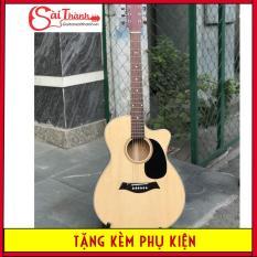 Đàn Guitar Acoustic Full gỗ nguyên miếng GV1200 + Khuyến mãi Bao da 3 lớp, phím gảy, giáo trình đêm hát căn bản, dây sơ cua