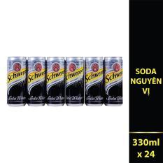 Nước giải khát có ga Schweppes Soda thùng 24 lon 330ml
