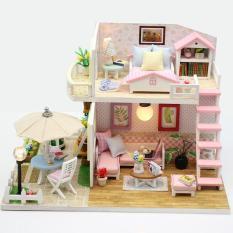 Mô Hình Lắp Ghép Nhà Gỗ DIY : Pink Lost M033 ( Tặng Kèm Mica + Keo )