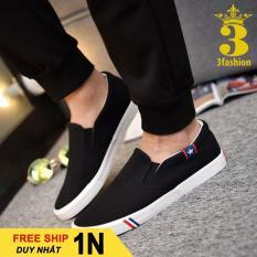 Mẫu⚡Hot Giày Slip-On Vải Cotton Mềm Mịn Có Size Nam Và Nữ 3Fashion Shop – 2633