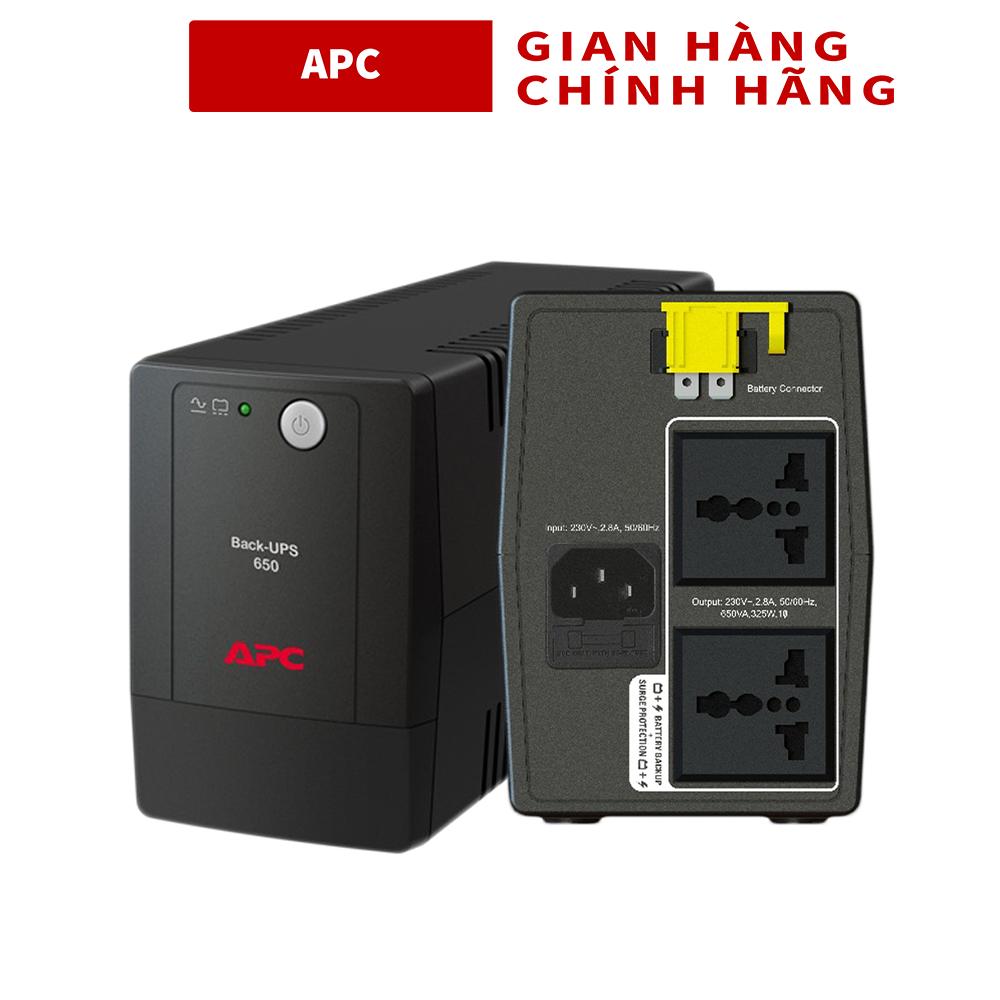Bộ lưu điện UPS APC BX650LI-MS , 650VA, 230V – 325W ( Có bình ) – Bảo hành 2 Năm