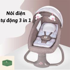[CAM KẾT HÀNG LOẠI 1] Ghế nôi rung điện cho bé sơ sinh cao cấp giúp bé ngủ ngoan Kết nối bluetooth-Điều khiển từ xa