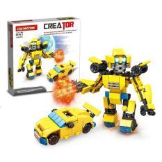 Hộp lẻ bộ đồ chơi lắp ráp chiến binh Lele Brother 8519