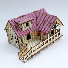 Đồ chơi lắp ráp gỗ 3D Mô hình Nhà gỗ Villa I Laser LC-GPH021