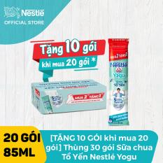 [Tặng 10 gói khi mua 20 gói] Thùng 30 gói Sữa chua Tổ Yến Nestle YOGU (85ml/hộp)