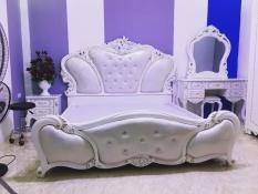 Combo giường bàn trang điểm tủ đầu giường phòng ngủ tân cổ điển CB029