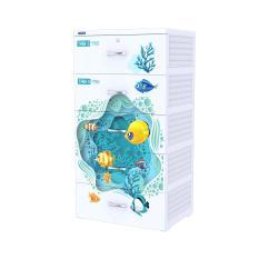 Tủ nhựa Duy Tân TABI-S 5 tầng ( Trắng ) – Họa tiết ngẫu nhiên