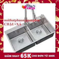 [CHẬU ĐÚC] Chậu Rửa Chén Bát INOX SUS 304 N5 8245 NA.GRAND và Xả chậu Thoát Nước LOẠI XẢ TO