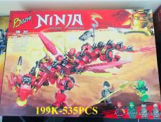 LEGO NINJAGO SIÊU RỒNG ĐỎ ( 535+ Chi tiết )