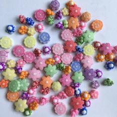 Gói 90 hạt nhựa hình hoa nhiều mẫu N37AB