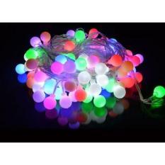 [Trang Trí Đón Noel Tết] Dây Đèn Ball 20 Bóng Nhiều Màu Kèm 3 Pin AA