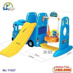Cầu trượt xích đu bể bóng Hàn Quốc xe Bus Tayo Y1543