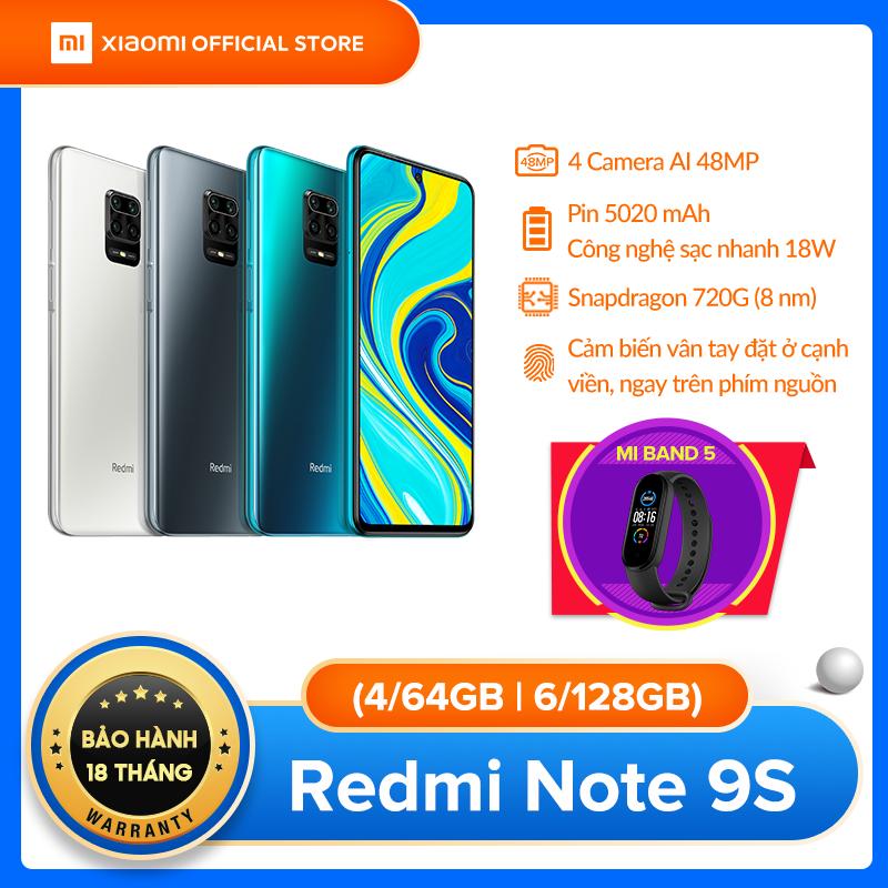 [XIAOMI OFFICIAL] TẶNG MI BAND 5 – Điện thoại Xiaomi Redmi Note 9S 6GB/128GB – Snapdragon 8 nhân 720G, Màn hình 6.67 inches, Pin siêu khủng 5020mAh sạc nhanh 18W, 4 Camera 48MP/8MP/5MP/2MP góc siêu rộng – BH CHÍNH HÃNG 18 tháng