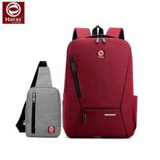 Combo Balo Laptop Thời Trang HR263 và Túi Đeo Chéo HARAS HR147