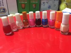 Set 10 chai sơn móng đủ màu