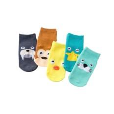 Tất chân cổ ngắn thu đông hình thú dễ thương chống trượt phong cách Hàn Quốc cho bé yêu-T4
