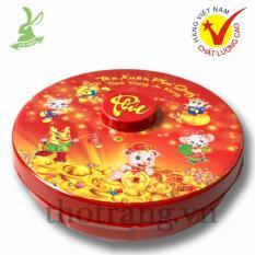 Khay Đựng Mứt Tết Đẹp Màu Đỏ Cỡ Nhỏ Đủ Màu ø 24 x 3,2 cm Sản Xuất Việt Nam Vinh Cơ