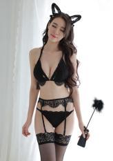 Bộ Lót Ren Kèm Vớ Cực Sexy