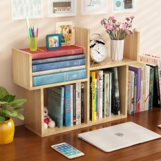 Kệ sách, giá sách gỗ mini cao cấp, dễ dàng lắp ráp tùy thích – Kệ sách để bàn 5 hộc để đồ tiện lợi , thiết kế nhỏ gọn, sang trọng , tô thêm điểm đẹp cho bàn học của bạn