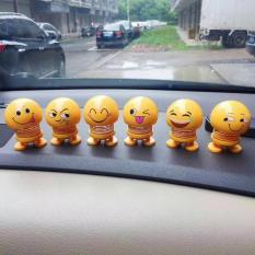 (Hàng Sẵn) Emoji Lò Xo Lắc Đầu Trang Trí Xe Hơi, Bàn Làm Việc Siêu Vui Nhộn