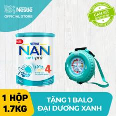 [VOUCHER 10%] Sữa bột Nestle NAN Optipro 4 HM-O 1.7kg cho trẻ trên 2 tuổi + Tặng 1 Balo đại dương xanh trị giá 250K – Cam kết HSD còn ít nhất 10 tháng