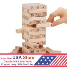 Bộ Đồ Chơi Rút Gỗ 54 Thanh USA0001