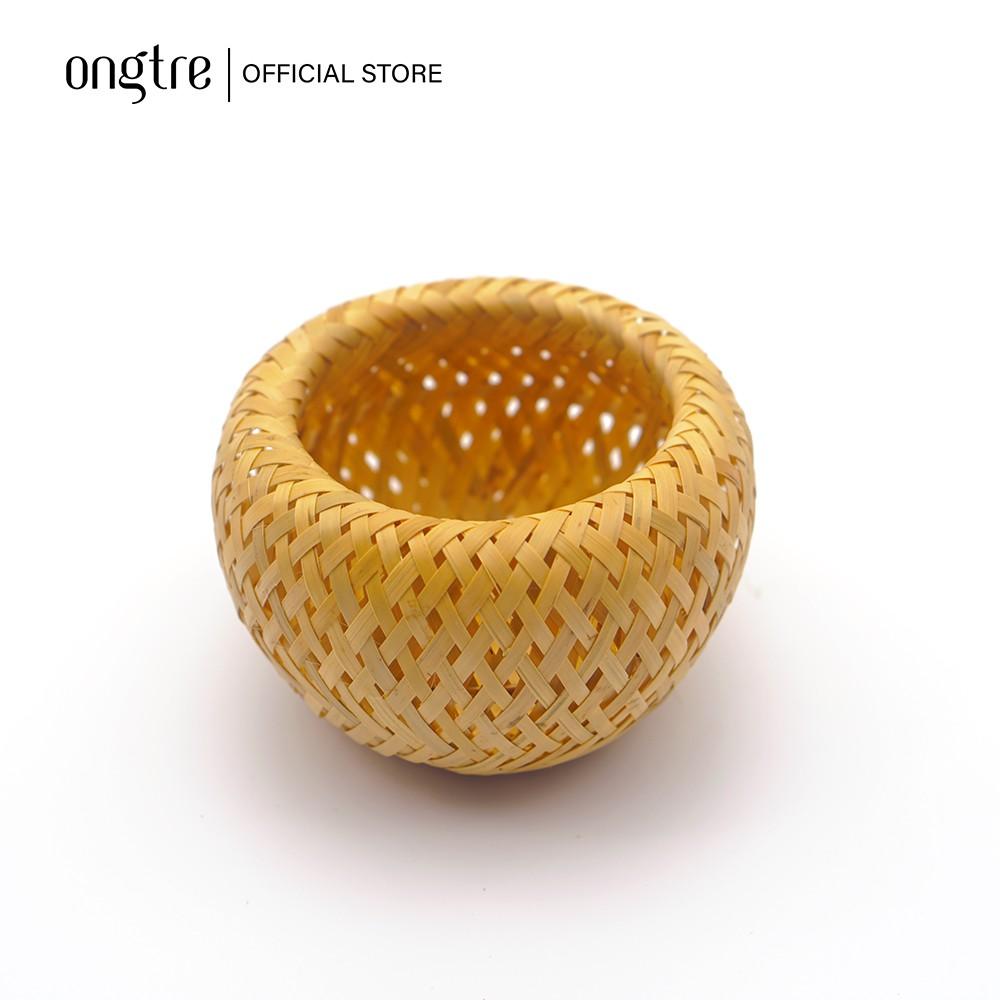 Hộp tre đan 2 lớp, có nắp đậy, đựng đồ, trang trí   ongtre® (Vietnam)