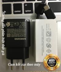 Trọn bộ Sạc nhanh 25W zin máy Samsung Note 10 Plus, Note 10, Note 20, S20 và cáp zin Samsung 2 đầu Type C to Type C – Phân biệt thật giả bởi PKCenter