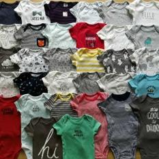 Set 10 bodysuit ngắn tay cho bé trai và gái