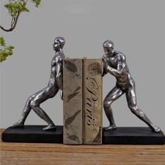 Chặn sách 2 người đàn ông – Chặn sách mô hình điêu khắc đẹp, cổ điển & sang trọng giúp giữ sách, tài liệu trang trí bàn làm việc, kệ tủ-DecorShop