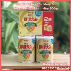 (HCM) Date T7/2022 Set 2 Hộp Sữa Meiji Số 0 Nội Địa Nhật Bản Mẫu Mới – Hộp 800Gr x 2
