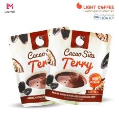 Combo 2 gói Bột Cacao sữa Terry thơm ngon và tiện lợi Light Cacao , đặc biệt không pha trộn hương liệu , gói 50g – Hỗ trợ tăng cân, cung cấp năng lượng cho cơ thể