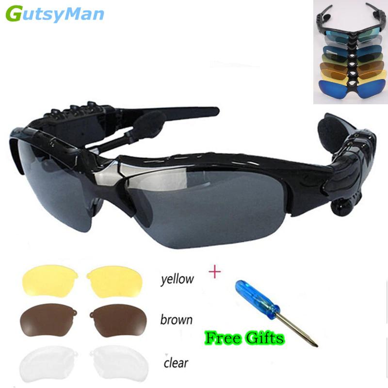 Kính Mắt Kiêm Tai Nghe Bluetooth kiểu mới hiện đại , Nghe Nhạc, Chống Bụi, Bảo Vệ Mắt Khỏi Tia Uv Tặng kèm bao da.