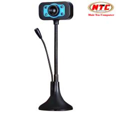 Webcam KM 720p HD hình ảnh và micro trên 1 đầu USB – tích hợp 4 đèn led trợ sáng (Màu Random) – Nhất Tín Computer