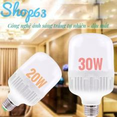 Bóng đèn LED blub trụ tròn – 20W hoặc 30W [hàng chuẩn công suất – cho đổi trả nếu không vừa ý độ sáng]