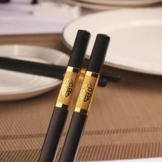 [HÀNG TỐT] Bộ 10 đôi đũa ăn hợp kim đầu bọc vàng phong cách Nhật Bản
