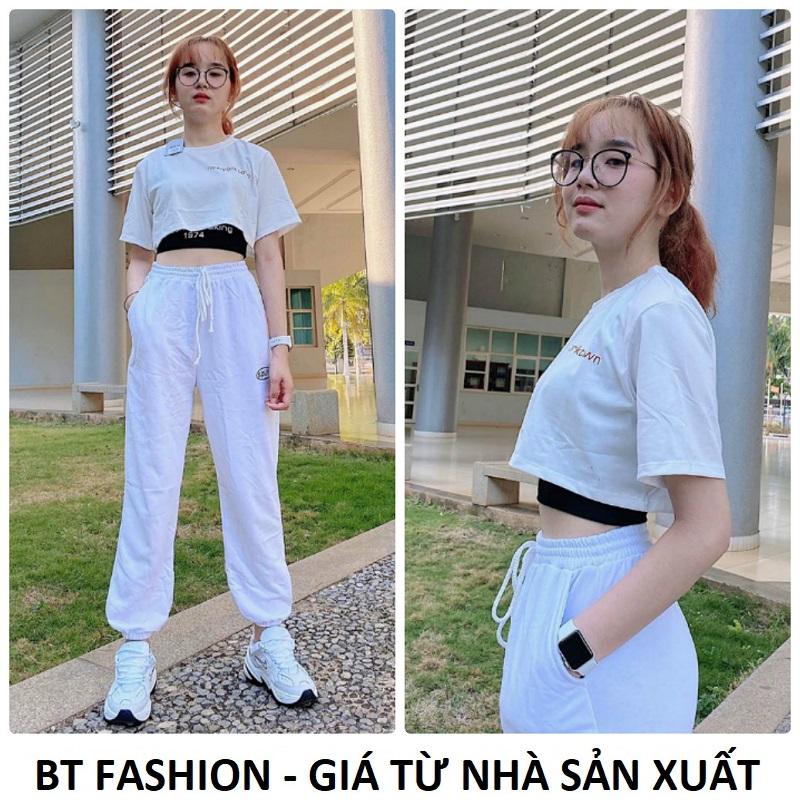 Set Bộ Quần Thể Thao Jogger + Áo Thun Cặp (SPUN 02) - Thời Trang Hot BT Fashion - Hình...