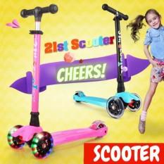 💥JC741-HONG💥Xe trượt Scooter 3 bánh phát sáng hiện đại – Gấp gọn tiện lợi, dễ dàng sử dụng