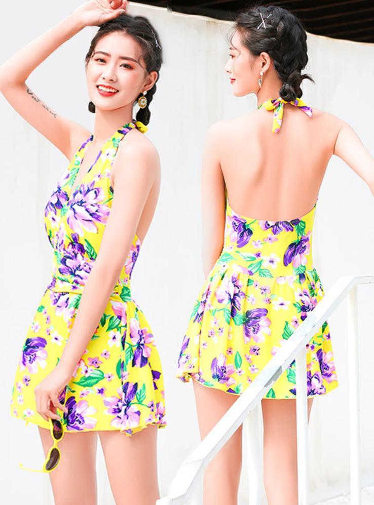 Đồ Bơi Nữ Một Mảnh Dạng Váy Hoa Xinh MHAT127 Mai Hoa