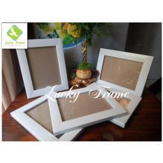 Bộ 5 khung ảnh 13x18cm để bàn màu trắng+treo tường