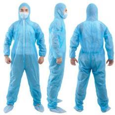 Bộ đồ bảo hộ y tế dùng 1 lần phòng chống dịch covis ( bộ sp gồm 2 món 1 áo liền thân + bao chân )