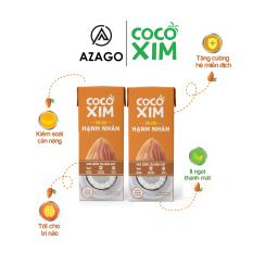 Combo 2 hộp Sữa cân bằng dinh dưỡng, kiểm soát cân nặng, tăng cường miễn dịch, cải thiện trí nhớ, tốt cho sức khỏe kết hợp giữa Dừa Tươi nguyên chất và Hạnh Nhân CBSD0001 – Thương hiệu COCOXIM 180ml (2 hộp) – AZAGO