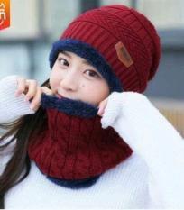 Mũ len kèm khăn, mu len trùm đầu trùm mặt, mũ kèm khăn quàng cao cổ, khăn len , khan kem mu len