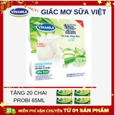 Thùng 48 hộp Sữa chua ăn Vinamilk Nha đam – 100g – Tặng 20 chai sữa chua uống Probi 65ml