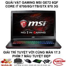 MSI GE72 6QF ( i7-6700HQ, ram 8G, HDD 1Tb, VGA rời Nvidia GTX 970M- 3G, màn 17.3″ FullHD ) phím 7 màu chất