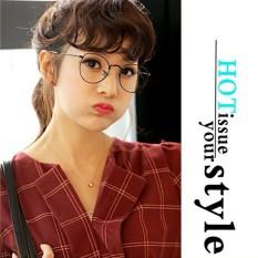 [ Full Hộp Kính ] Kính Mát thời trang Hàn Quốc Giá Rẻ – Kính Mắt Giả Cận siêu cute – Kính Mắt Thời Trang Đi Biển – Kính Mắt Chống Tia Bức Xạ UV ( K010 – Gọng Đen )