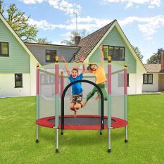[Giá Rẻ+Chất Lượng] Nhà Nhún Lò Xo Cho Trẻ Em Có Lưới Bao Vây Và Tấm Đệm Lò Xo – Thảm Nhảy Dùng Được Cho Cả Trong Nhà Và Ngoài Sân